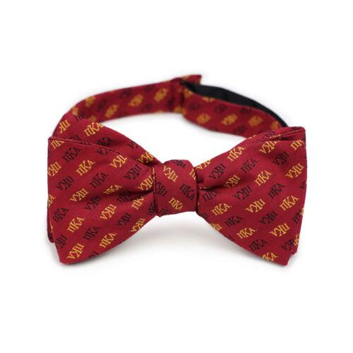 Pi Kappa Alpha PIKE Fraternity Silk Bow Tie Self-Tie Greek Letters-New!