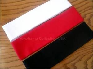 "Japanese KUMI Hachimaki Headband Martial Art/ Sports/White/Black/Red/40"" long"