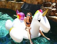 Super Giant Inflatable Unicorn Pool Float Toy, Inflatable Lilo Lounger