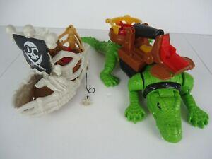 Fisher Price Imaginext Billy Bones Skeleton Pirate Ship Boat & Walking Croc
