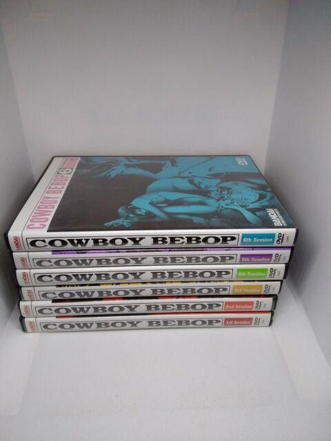 Cowboy bebop anime vol session 1 2 3 4 5 6 complete series dvd rare oop set lot
