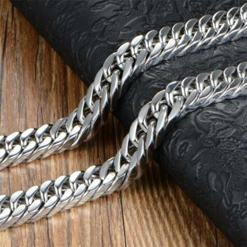 Men and Teenage  316L Solid heavy stainless steel necklace Curb Chain