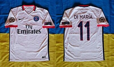 Rare Match Worn Shirt Di Maria Paris Saint Germain Champions League 2015 2016 Ebay