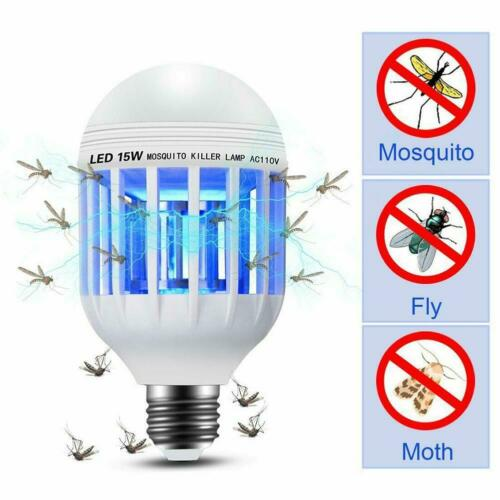 Light Bulb Mosquito Lamp Fly Trap Killer Indoor Outdoor Insect