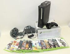 MICROSOFT XBOX 360 Elite Console Controller Wireless 120GB 14 Video Game Bundle