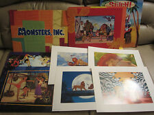 Huge Lot of DISNEY LITHOGRAPHS  Framable, 19 pcs,  Each is 11 x 14 inches    USA