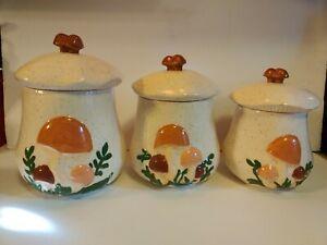 3-Merry-Mushroom-Pottery-Staple-Cookie-Canister-Set