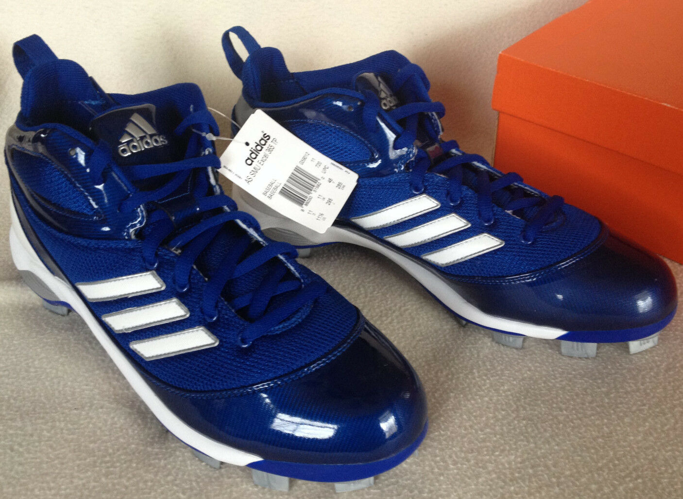 new Adidas AS SMU Excel 365 TP G59012 Blue White Baseball Cleats Shoes Men's 14
