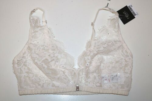 70 75 NEXT DAISY DIAMANTE STUDDED IVORY LACED FRONT FASTENING BRALETTE 32C 34C