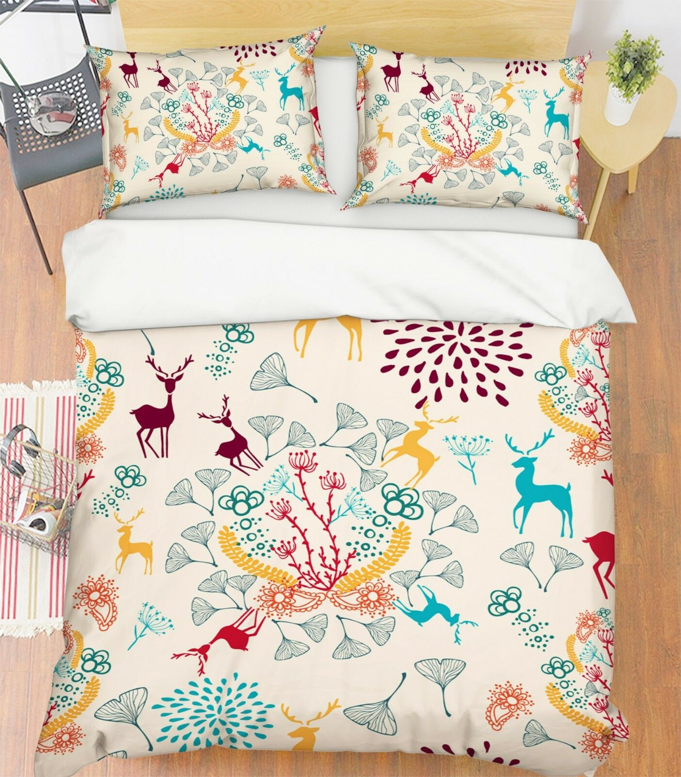 3d Natale Xmas 006 LETTO FEDERE steppe duvet set soffitto Single de