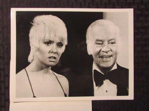 "1970's Joey Heatherton CBS Promo 7x9"" B&W Photo VF Joey & Dad"