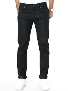Nudie-Mens-Slim-Fit-Jeans-Grim-Tim-Org-Black-Ring-12-7oz-Stretch-Denim