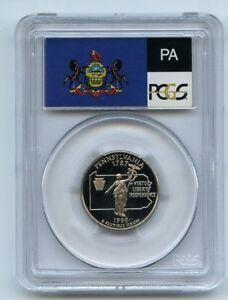 1999 S 25C Clad Pennsylvania Quarter PCGS PR69DCAM