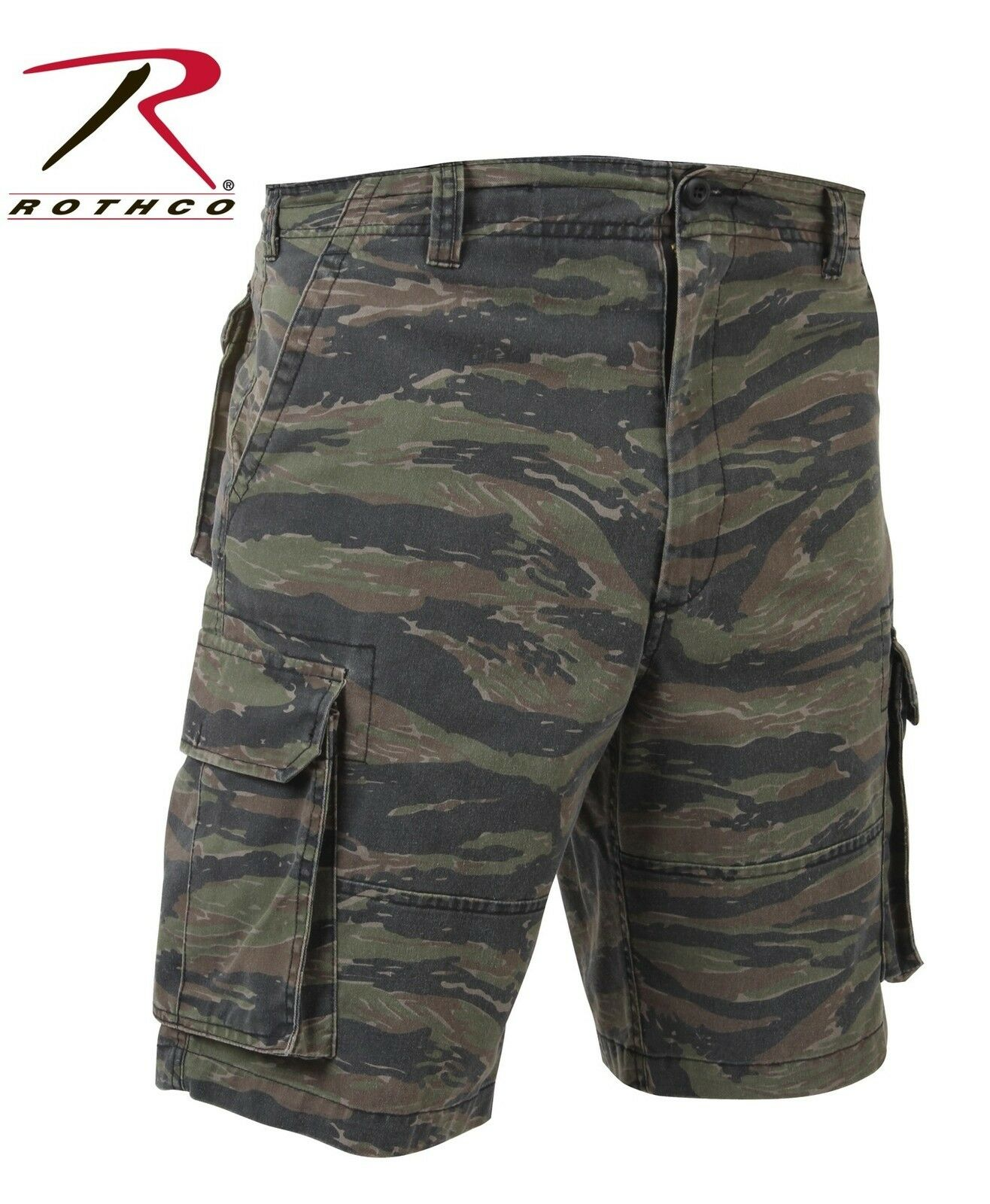 Tiger Stripe Vintage Camo Paratrooper Cargo Shorts - redhco Vintage Camo Shorts