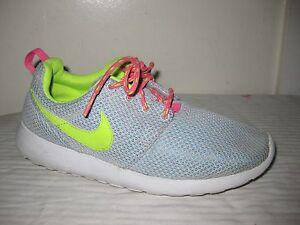 297ca31bd2a8c Details about Nike Rosherun Pure Platinum 599729-008 Kids Shoes Size EUR  38, US 5.5 Y