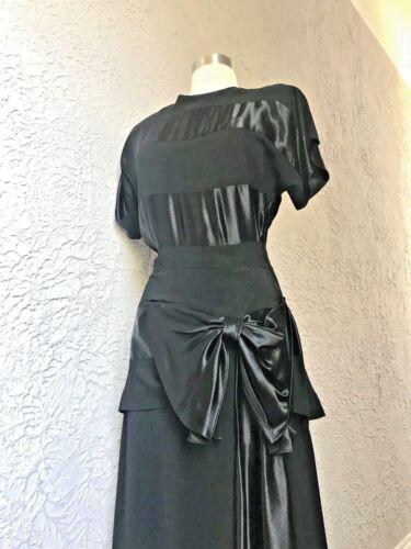 30's Vintage Rayon Crepe Silk Satin Art Deco Elega