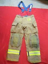 Mfg 2010 Morning Pride 34 X 32 Fire Fighter Turnout Pants Bunker Gear Suspenders