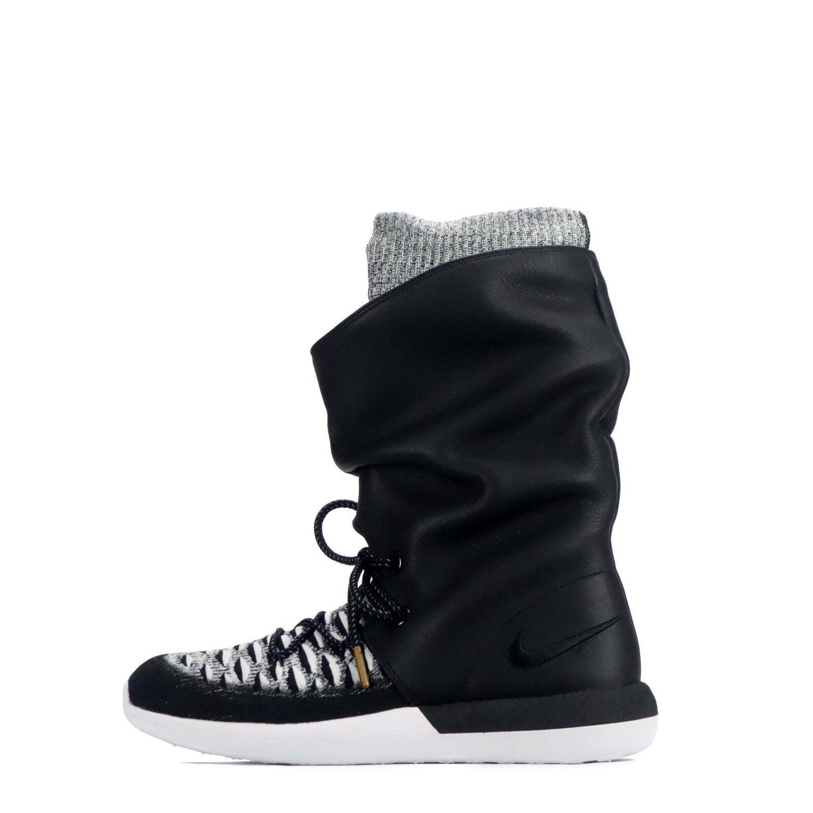 Nike Roshe Two Hi Flyknit Women's Ladies Casual Walking Fashion Shoes in Black