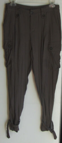 urban behavior cameo brown droopy cuff ankle pants