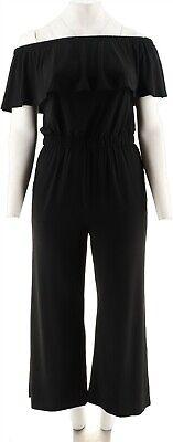 GILI Petite Off The Shoulder Jumpsuit Noir Black P2X NEW A302134