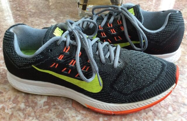bc8a68195d599 NIKE ZOOM Structure 18 Men's Black Orange Volt Running Shoes Size 9  #683731-001