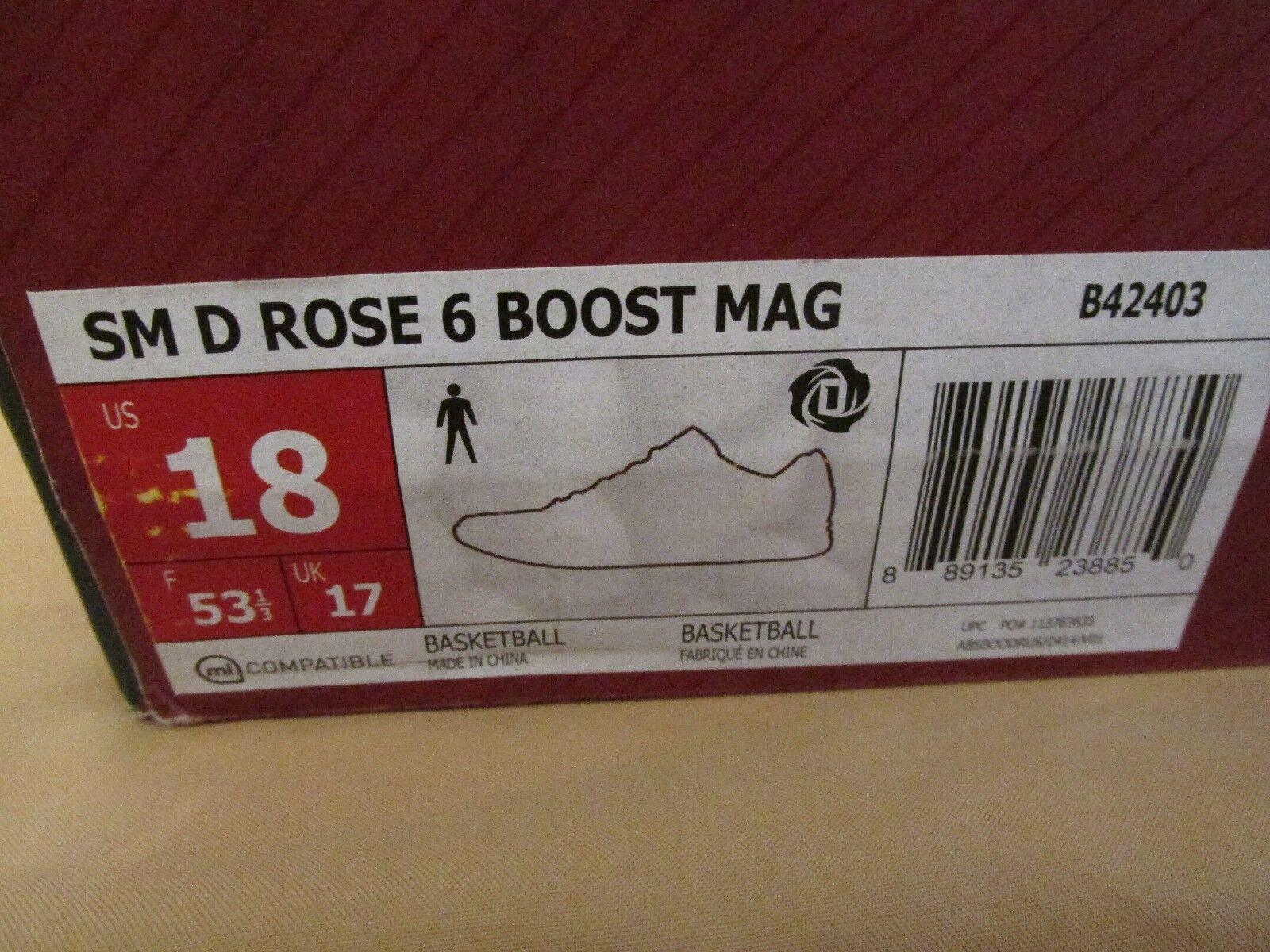 Nuove adidas s american rose 6 impulso mcdonald's all - american s game scarpe rosse numero 18 b42403 f14d3d
