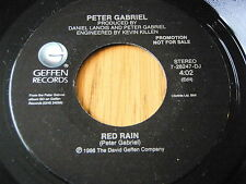 "PETER GABRIEL - RED RAIN    7"" VINYL PROMO"
