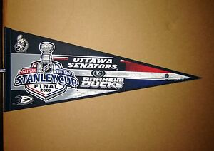 2007 Stanley Cup NHL Anaheim Ducks vs Ottawa Senators Hockey Pennant
