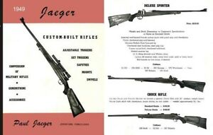 jaeger custom built rifles 1949 gun catalog ebay