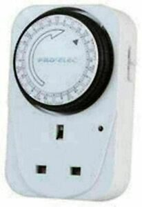 Plug-in Timer 7 Day mechanical Timer 24 Hour Programmable 84 On & OFF
