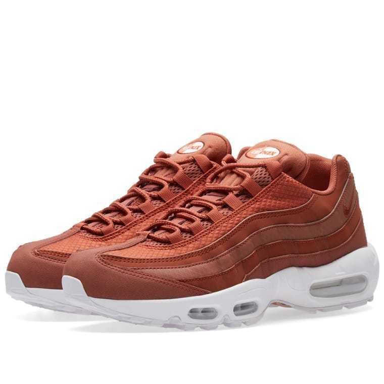 MEN'S NIKE AIR MAX 95 PREMIUM SE  DUSTY PEACH & WHITE 924478-200