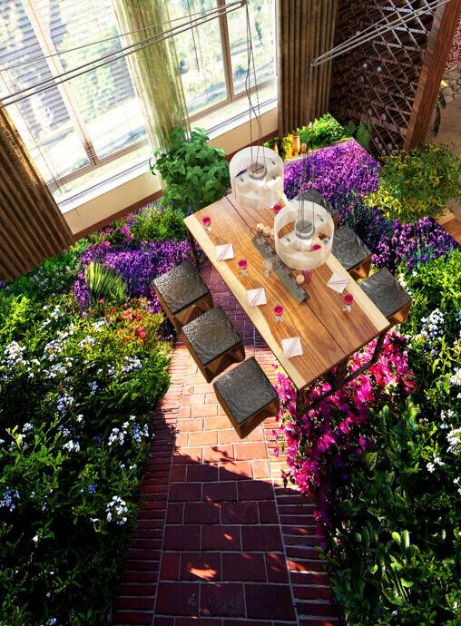3D Blaumengarten 710 Fototapeten Wandbild Fototapete Tapete Familie DE Lemon