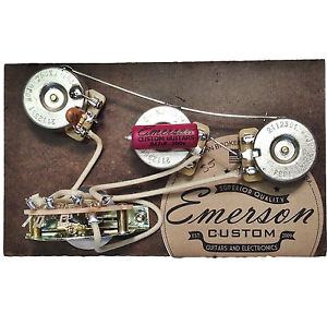 emerson custom 5 way strat prewired kit 250k wiring harness pots rh ebay com emerson wiring harness telecaster emerson custom wiring harness