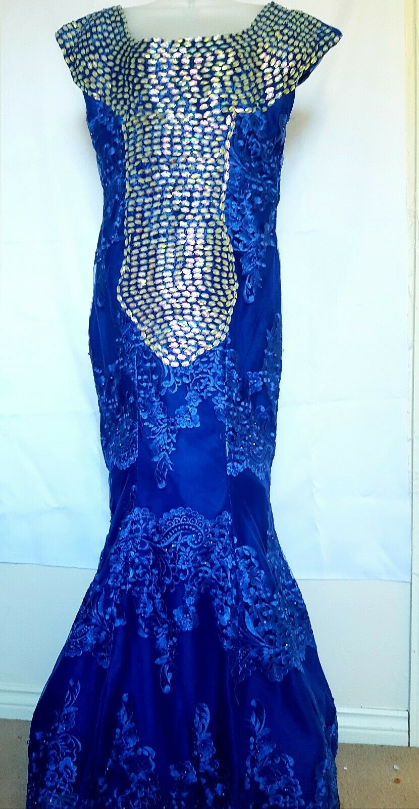 Ladies/Women Dress. Wedding Prom Evening party Rhinestones Dress.