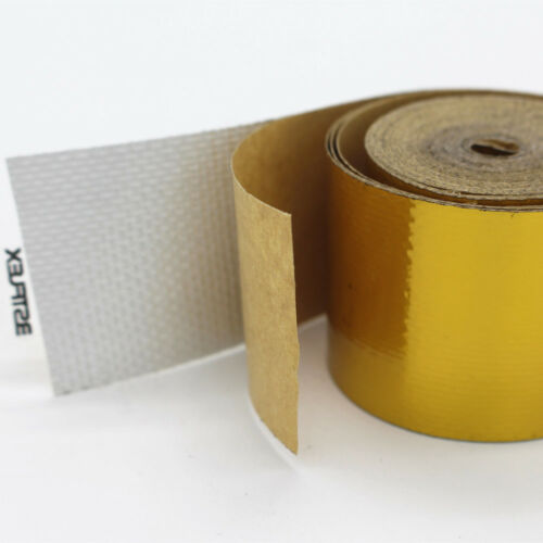 10m x 5cm Roll Adhesive Reflective Gold High Temperature Heat Shield Wrap Tape