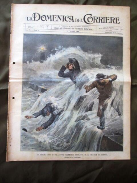 La Domenica del Corriere 8 Febbraio 1903 Attori drammatici Arena Milano Cavalli