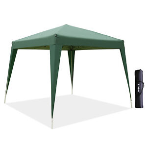10x8 Pop-Up Waterproof Canopy Folding Square Outdoor Party Camping Tent Green