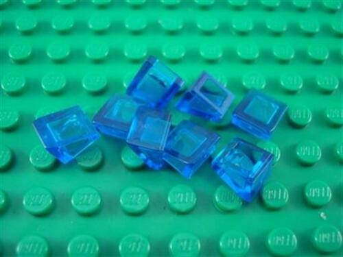 New LEGO 8 Translucent Dark Blue 1x1x2//3 Mini Slopes