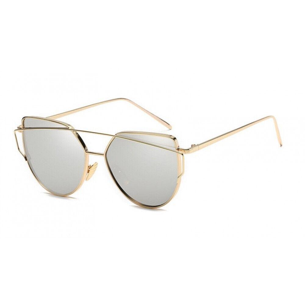 Sonnenbrille Damen Mädchen Cat Eye Brille Katzenaugen Fashion Verspiegelt UV400