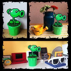 Peashooter Plants vs Zombies Figure Toy 8 bit Decor in Pot ...