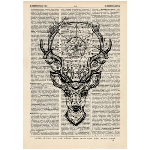 Tattoo art dictionary page art print vintage gift antique book K21