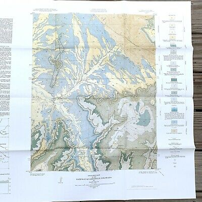 United States Geological Survey Map USGS Gateway Colorado 1955 Quadrangle  49x28 | eBay