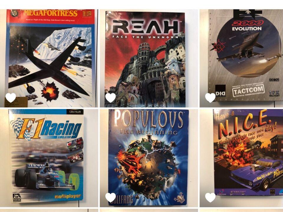 PC Big Box retro-spil (+ et enkelt Amiga), til pc, anden