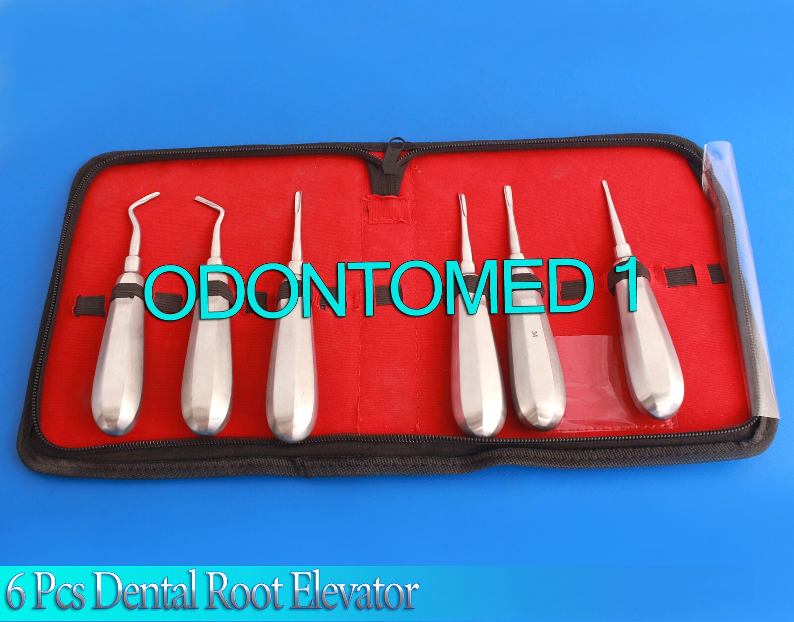 Kit De 6 piezas dentales Root Ascensor Recto cirugía extracción extracción extracción instrumentos 5d3897