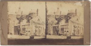 Padova Cattedrale Italia Stereo Vintage Albumina Ca 1860