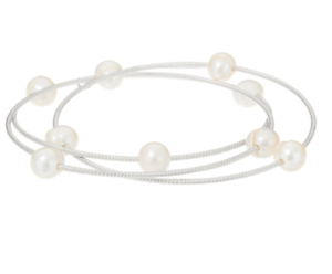 HONORA-CULTURED-PEARL-ROLLING-STERLING-SILVER-8-034-BANGLE-BRACELET-8-4G-QVC-99