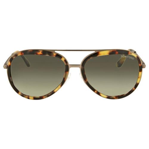 e92771200bd Tom Ford Andy FT 0468 053p Havana   Green Gradient Sunglasses