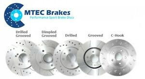 Front Brake Discs Drilled Grooved Gold Edition Alfa 159 Sportwagon 1.8 Tbi 09