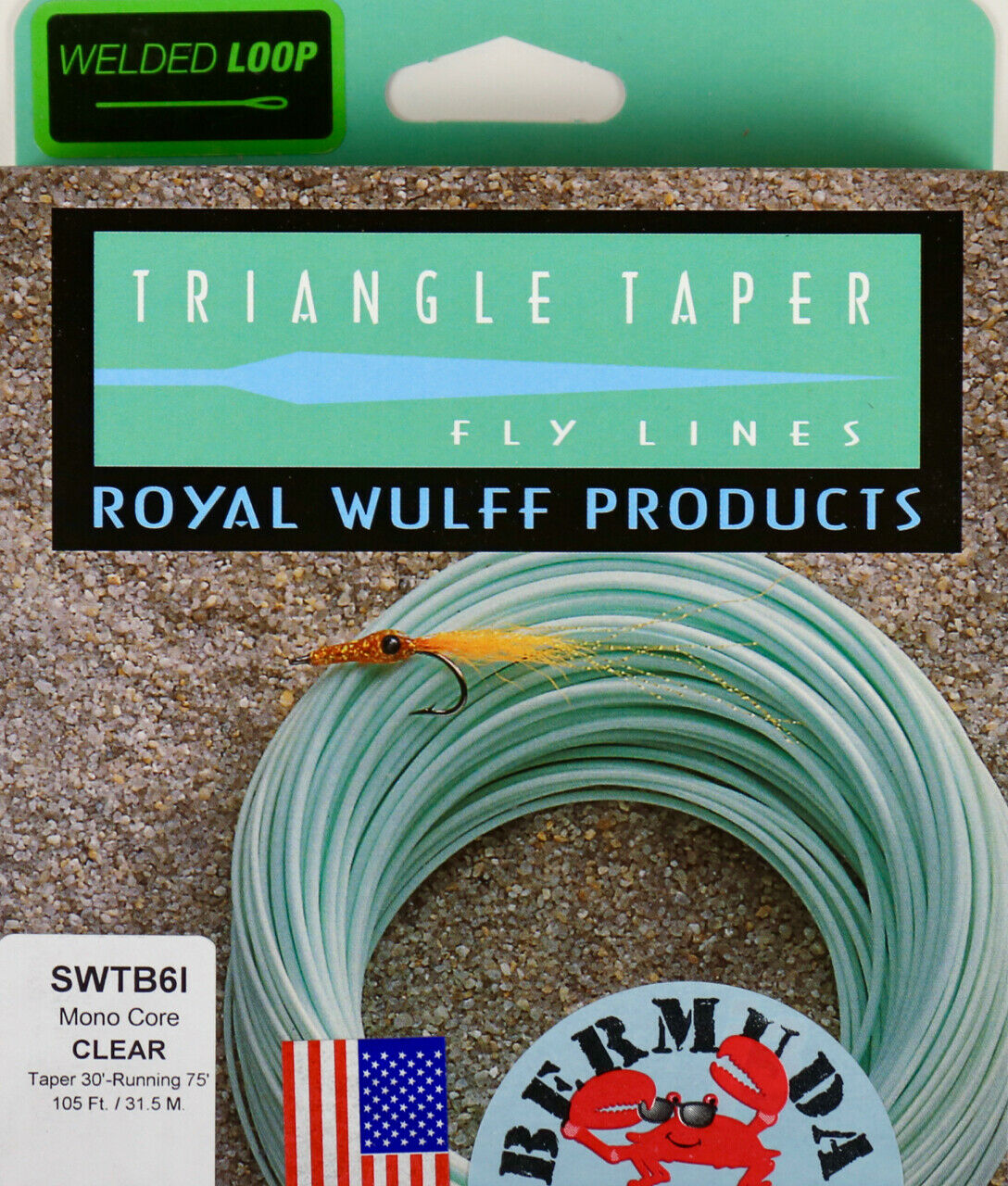 Royal Wulff Bermuda Triangle Taper Saltwater Intermediate 8 WT Fly Line SWTB8I