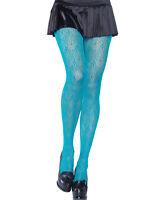 Neon Blue Chandelier Lace Pantyhose Tights - Leg Avenue 9958